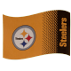 Pittsburgh Steelers Large NFL Logo Fade Flag (bst)